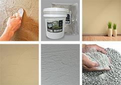 調湿効果の高い竜山石の塗り壁材(特許申請中)